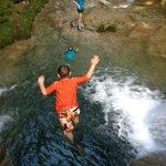 Jumping the falls