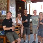post dive beer and tapas at la bodega Barrica, opposite the dive centre
