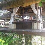 area de massagem na frente praia