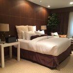 Luxury King room minus the flooded carpet