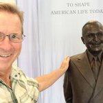 Terry Hunefeld says hello to Harry Truman