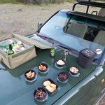 sundowner snacks on bush drive