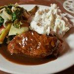 homemade meatloaf dinner