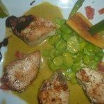Pavé de poisson sauce curry/coco