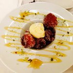 Bambolini (Italian doughnuts with ice cream).. I'll cry if they don't have this next time I go!!
