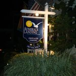 Admiral's Landing Sign in the Moonlight!