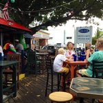 Outdoor seating area Siesta Key Oyster Bar.