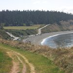 Looking Back to Starting Point and Beach