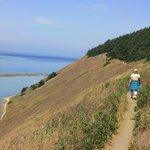Walking along Trail near Top