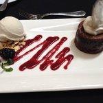 The Amazing Molten Chocolate Cake with Handcrafted Vanilla Ice Cream