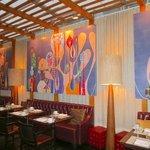 Birght & cheery restaurant