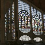 Panorama of the Stained glass of Joan of Arc Church