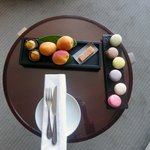 Welcome Treat, fruit and apricots