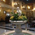The lobby fountain