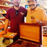 Bob's cigar trunk: Cuban imported tabaco leaves, hand rolled by him on Cozumel.