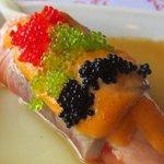 Sensational sushi...love the sauce!
