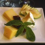 Complimentary cheese sampler