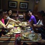 chinese group enjoying Dinner