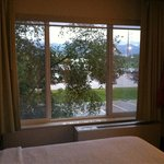View from room at 11:30 pm. Room darkening shades worked great. Great view of Alaska Range.