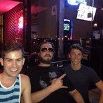 Michael the Bartender in left. Bro middle. John the Server right.