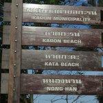 Kata beach sign