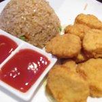 Chicken nuggets on kid's menu