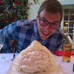 Meringue the size of a head!
