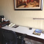 Business work area with internet cable as well as wifi