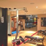 Workout room with free and fixed weights plus machines