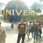 In front of the Universal Studios Singapore