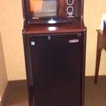 Mini fridge and microwave in Queen suite.