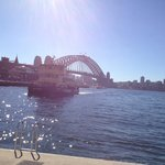 Sydney harbour bridge taken from Circular Quay mid afternoon in August
