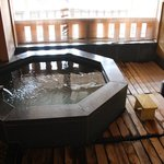 One of the private baths