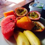 Delicious breakfast with passion fruits available daily!!