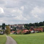 Blick auf Besenfeld und das Hotel