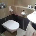Modern but Tiny bathroom