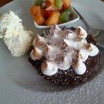 Triple chocolate salted peanut meringue tart! Absolutely delicious!!