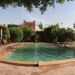 Panoramic view on the pool