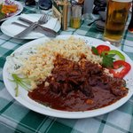 Hungarian perkelt , only good meal we have!