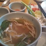 Breakfast Pho in the hotel restaurant in the morning.