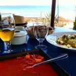 Nice view, mediterranean food