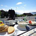 Dejlig morgenmad i smukke omgivelser