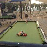 Outside pool table