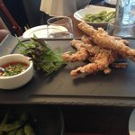 Double portion of frog legs. The legs still had frog-taste