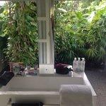Opensky bathroom with garden