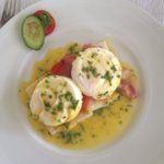 Breakfast benedict eggs