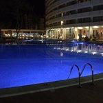 Small pool at night