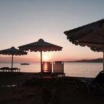 Sun rise over Albania
