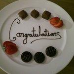Congratulatory chocs