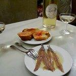 Cava & Anchovy in El Xampanyet